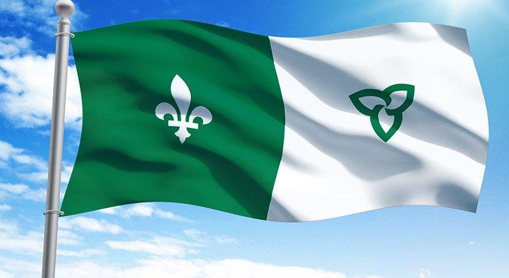 le drapeau des Franco-ontariens et des Franco-ontariennes